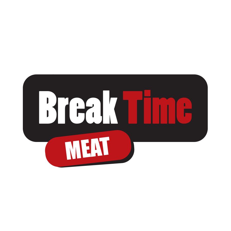 עיצוב לוגו ברייק טיים - בשר